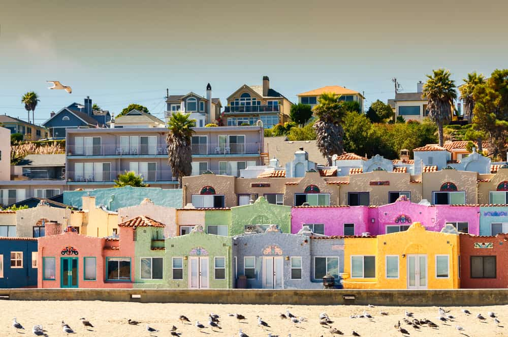 Rainbow colored houses of Capitola