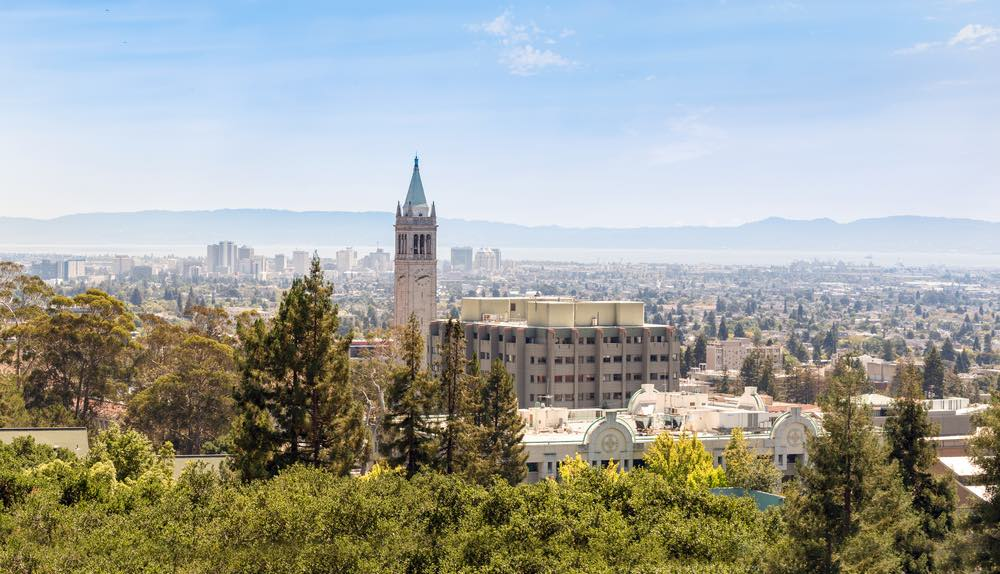 view of the campus of uc berkeley from afar
