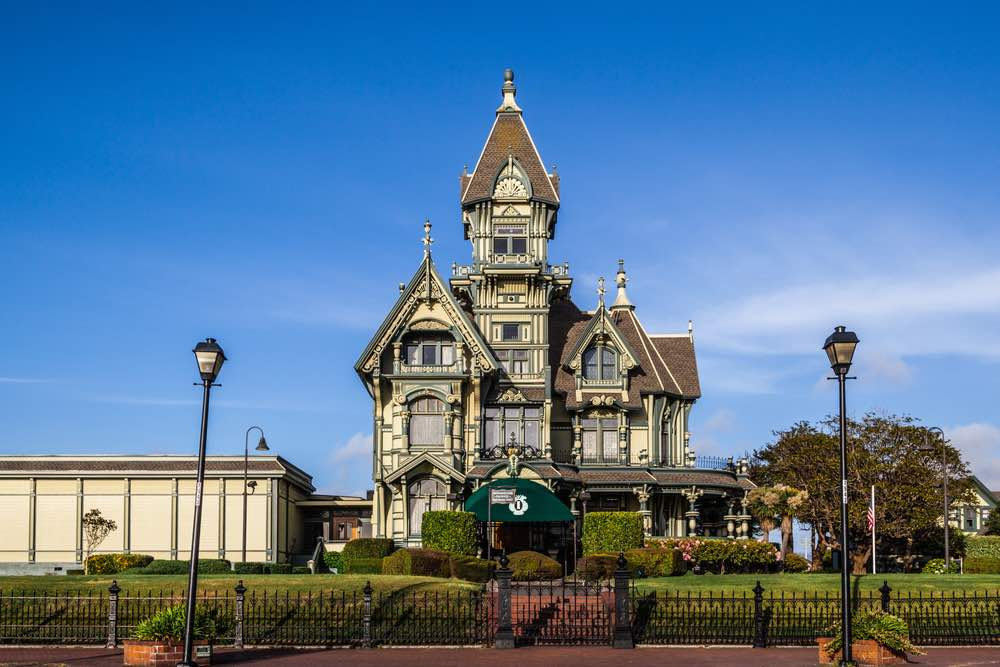 A fancy mansion in the Victorian and Queen Anne style, the most famous thing to do in Eureka is see this mansion from the outside!