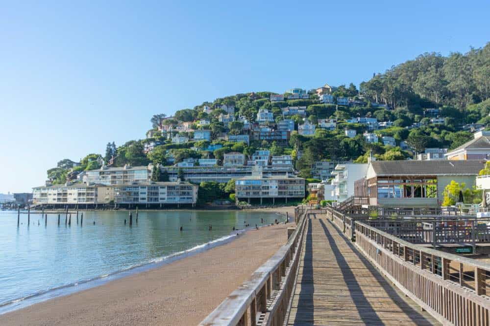 the charming seafront neighborhood of sausalito california on the water of the bay