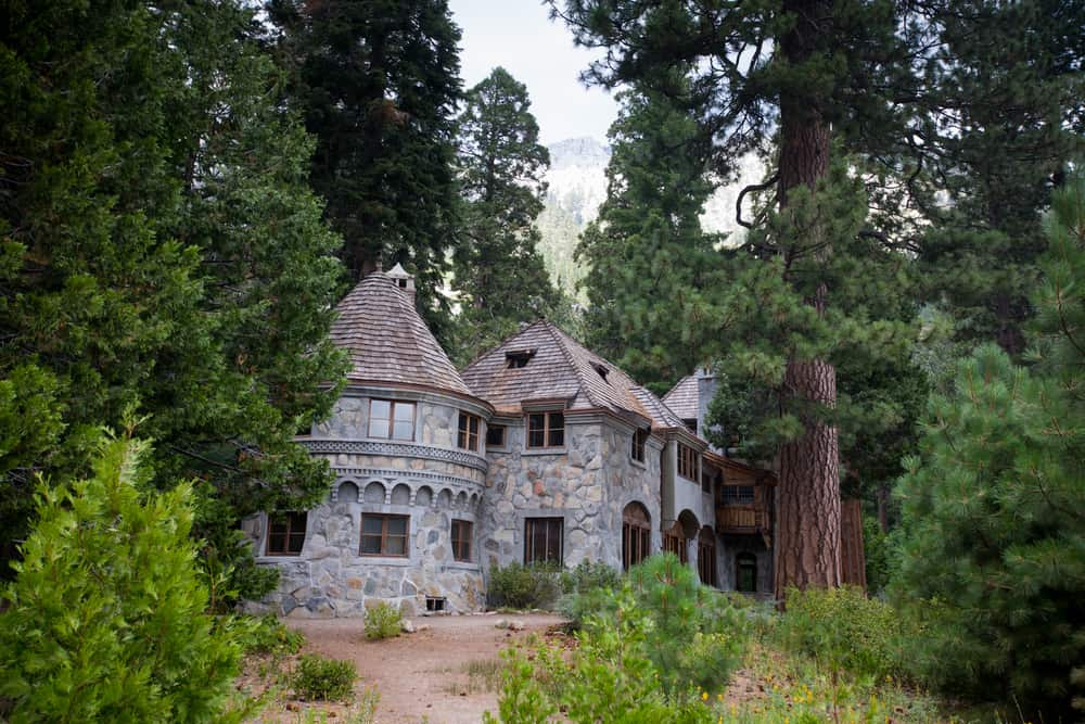 A Scandinavian inspired stone castle in the middle of a pine forest, accessed via an easy Lake Tahoe hike.