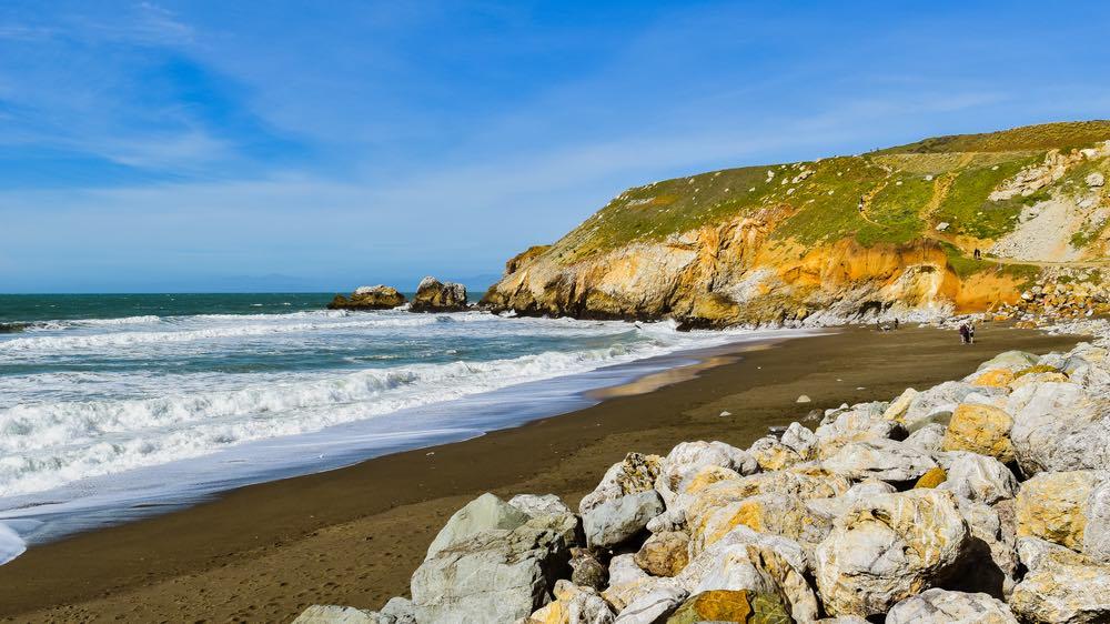 the beach of pacifica in california