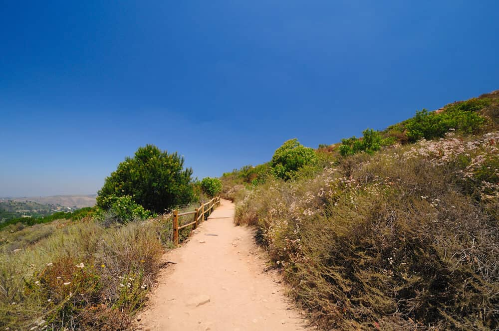 cowles mountain trail showing views over san diego county