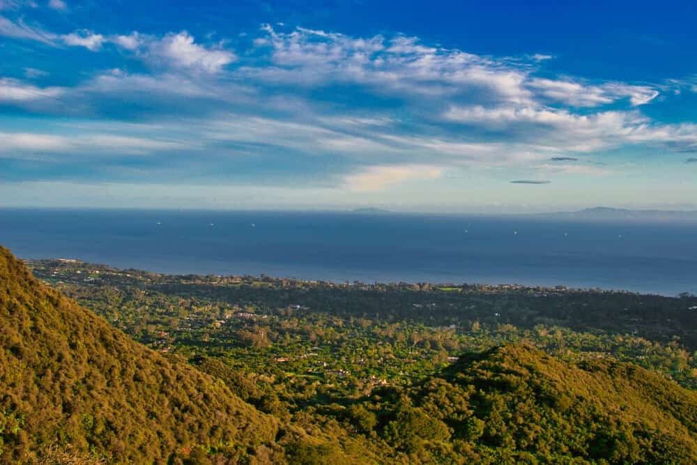 hike with a view over all of santa barbara