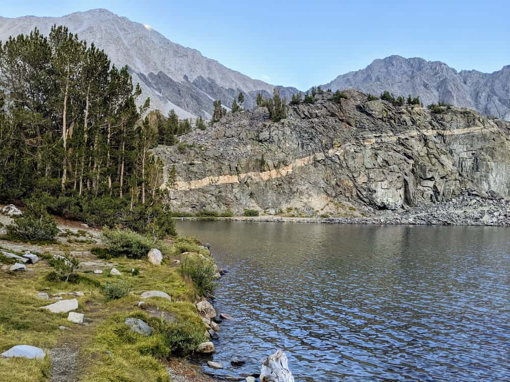 The waters of Long Lake, part of the Little Lakes Valley trail, a popular destination when driving Highway 395