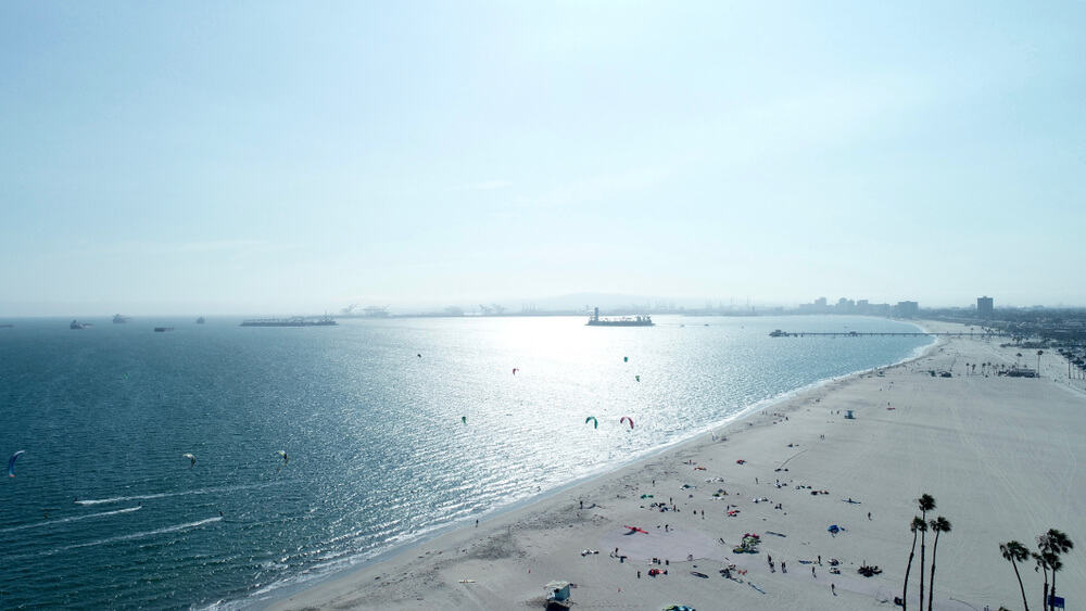 the dog beach in los angeles long beach area