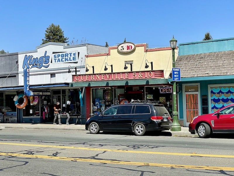 the downtown of guerneville