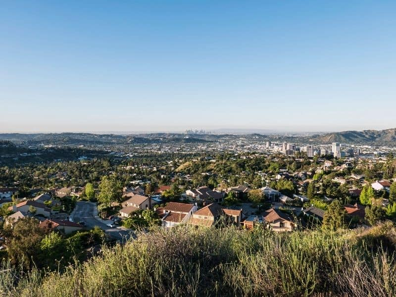 the city of glendale overlooking los angeles a popular day trip away