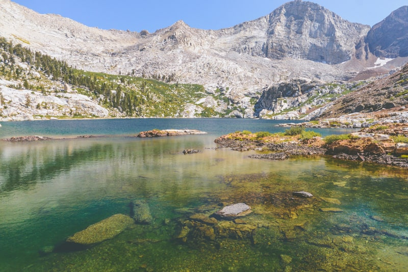 translucent blue waters of franklin lakes in sequoia national park