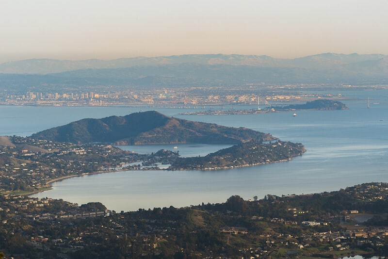 views at sunset from the east peak of mt tam the highest point in marin county a great day trip from san francisco