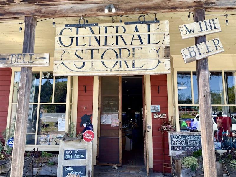 sign for duncans mills general store