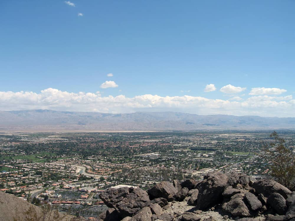 View of Rancho Mirage, California from the Bump and Grind trail