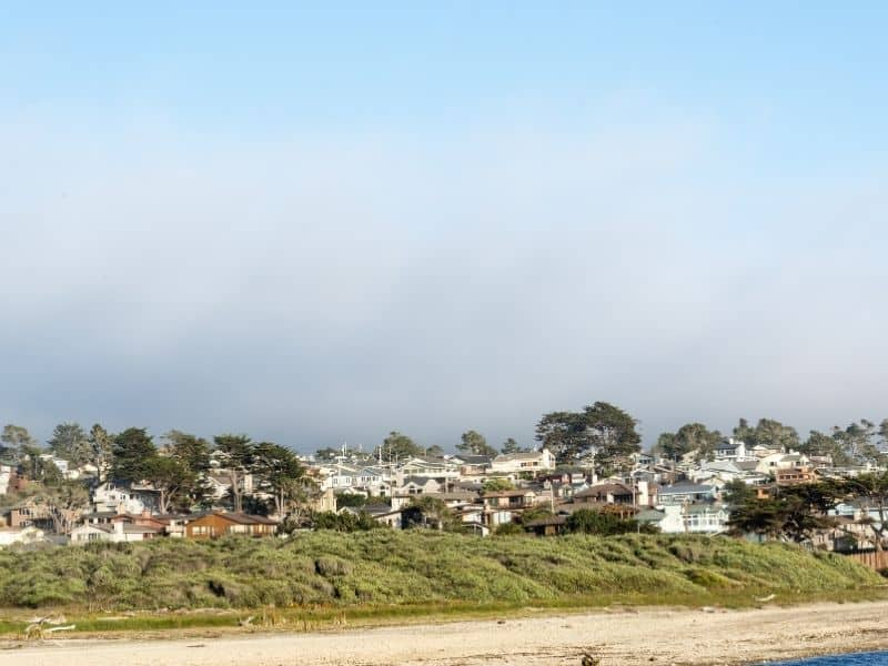 houses on the beach at cambria on california's central coast