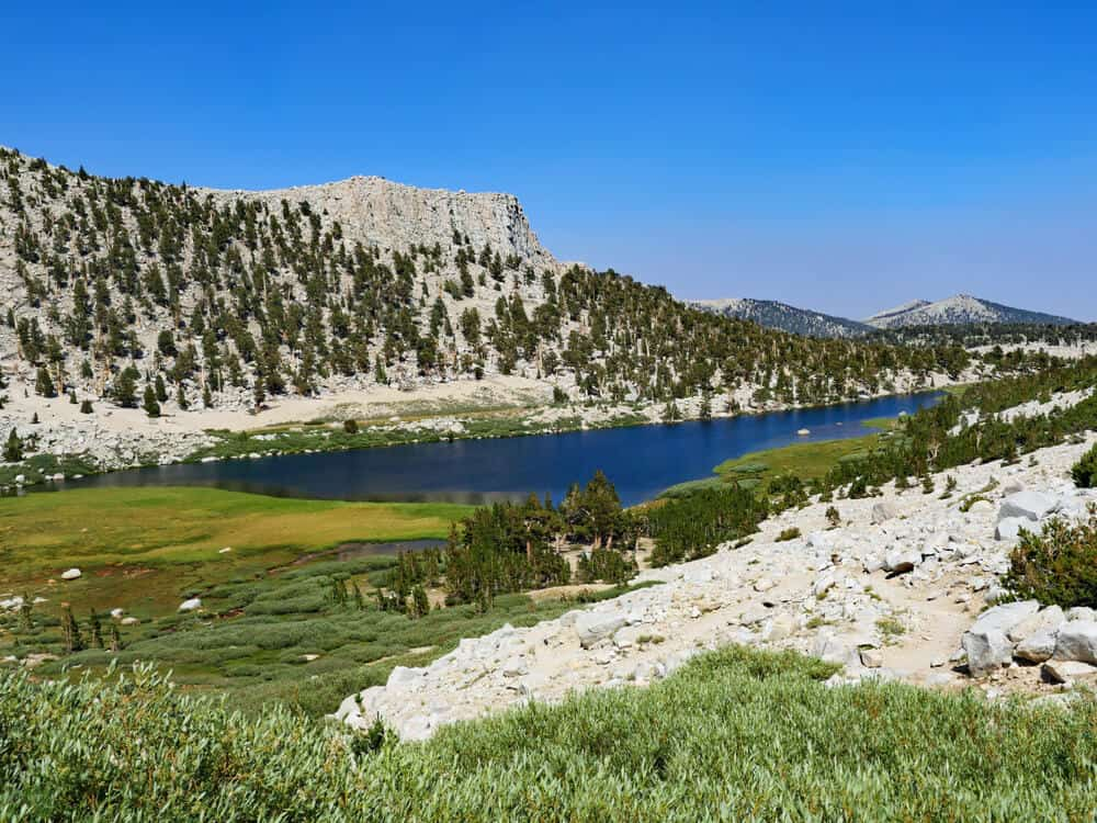 the waters of one of the lakes along the Cottonwood Lakes Trail in the High Sierras