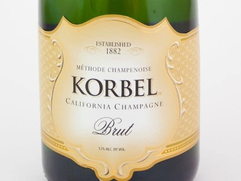 a korbel sparkling wine label