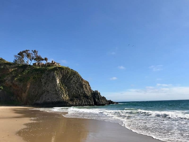 the sand at moro beach in crystal cove state park hiking in laguna beach