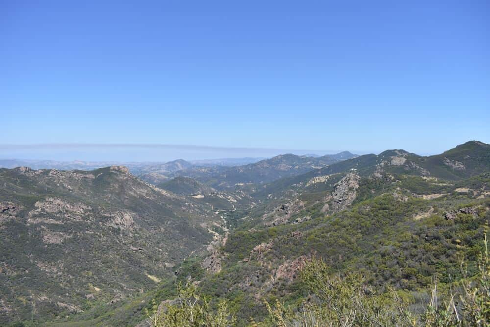 A look at the neighboring mountain ranges from the edge of Deer Canyon.