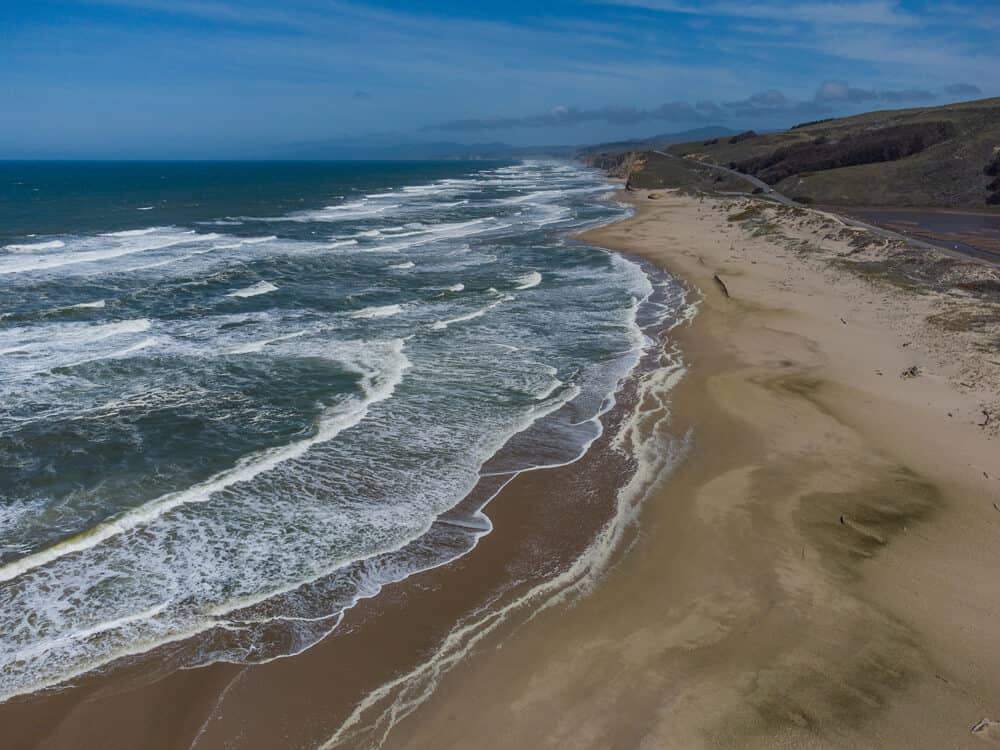scenic coastal landscape at pescadero state beach