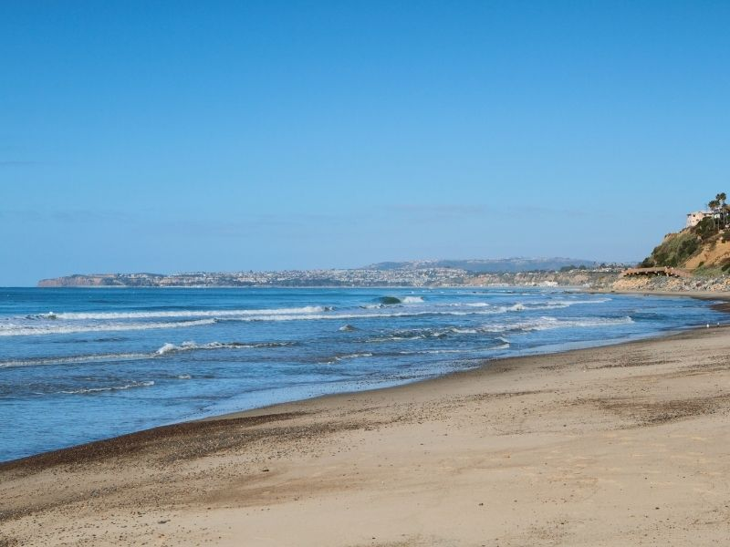 beach at san clemente state beach with water and coastline