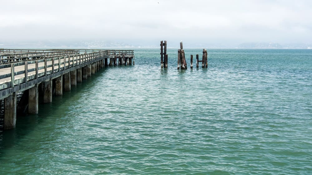 the municipal pier of san francisco on a partly cloudy day exploring the city