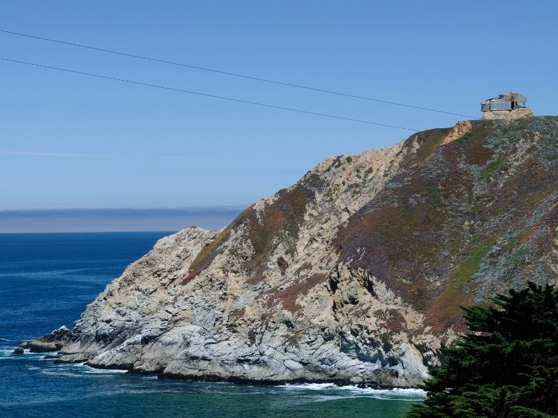 A view on the Devils slide hike on a sunny day in Pacifica