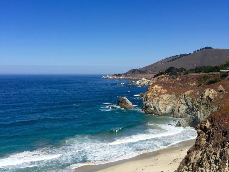 the big sur coastline with sandy beaches