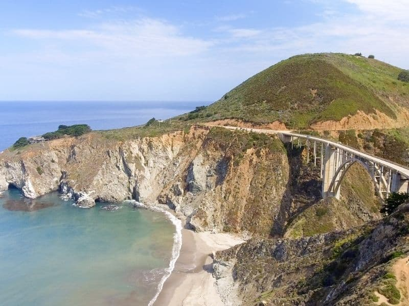 the famous bixby creek bridge in big sur california