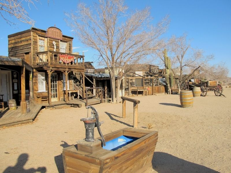 the buildings of pioneertown in southern california