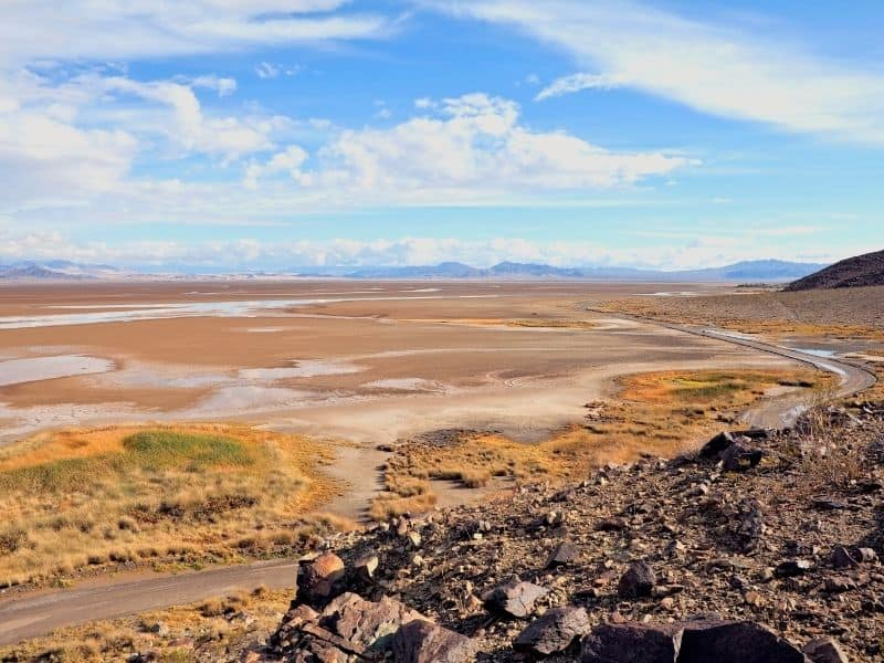 a dry lake in southern california now a ghost town
