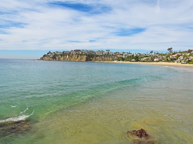 the soft pale greenish blue waters at laguna beach a great place for kayaking in orange county