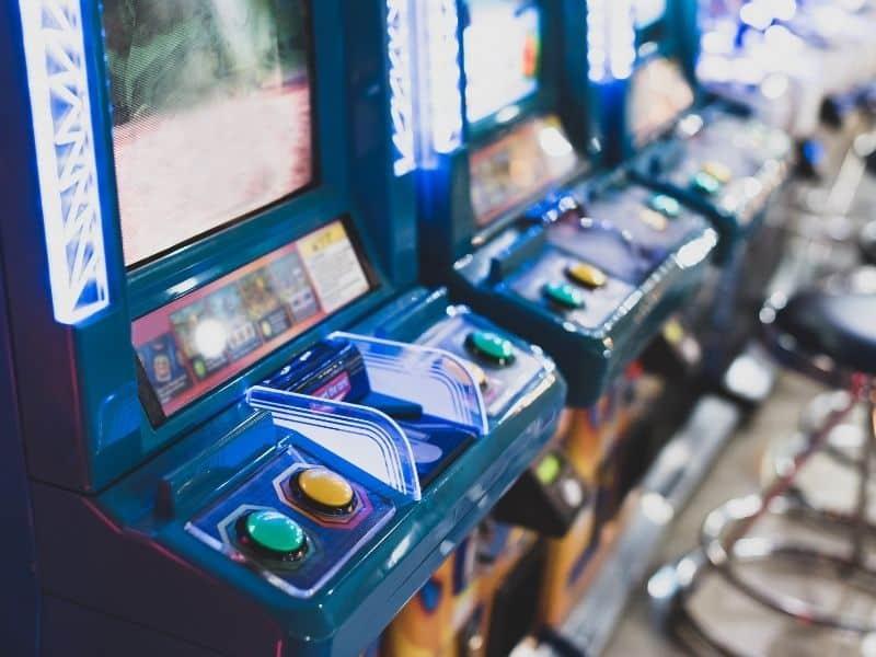 Arcade games at an arcade bar
